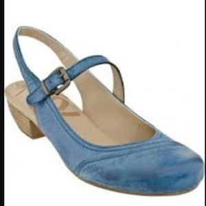 OTBT Blue Tazewell Mary Jane Slingback Heels